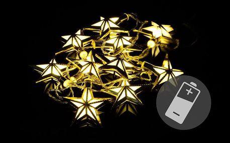 Nexos 39404 Vánoční LED osvětlení - hvězdy - teple bílé 10 LED