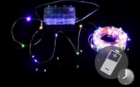 LED osvětlení - měděný drát - 100 LED barevné - Nexos Trading GmbH & Co. KG D41711