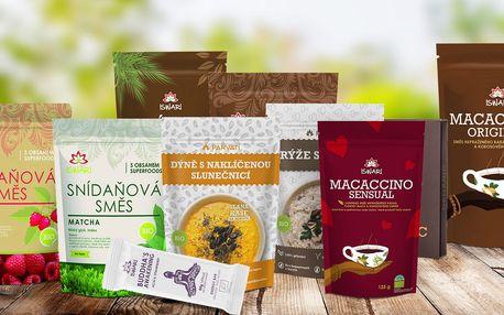 Zdravé balíčky ze superpotravin v bio kvalitě Iswari