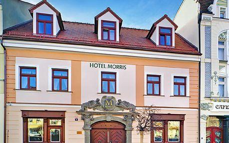 Česká Lípa ve 4* hotelu Morris s privátním pobytem ve vířivce a sauně, procedurami a polopenzí