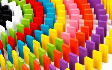 Dřevěné kostky na hraní - domino - 120 kusů