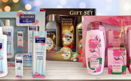 Dárkové kosmetické sety s růžovým olejem či vodou