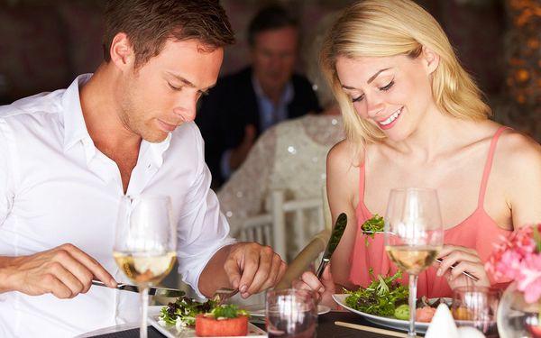 Středomořské menu s rybou nebo steakem pro 2 os.