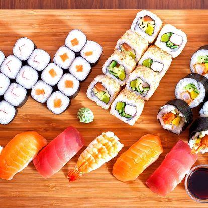 Sushi sety v asijském bistru: 24 i 46 kousků