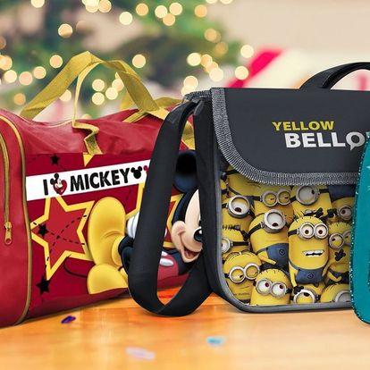 Dětské tašky a batohy: Frozen, Mimoni i Cars