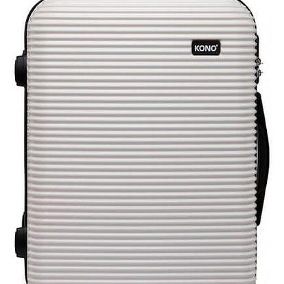 Dámský střední bílý kufr na kolečkách Travel 6676