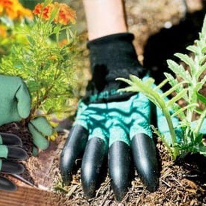 TIP! Zahradnické rukavice s plastovými drápy - zahradníci jistě ocení