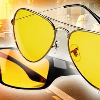 TIP! VISION Brýle pro řidiče (2 varianty) Typ: Sportovní (1 ks žluté, 1 ks černé)