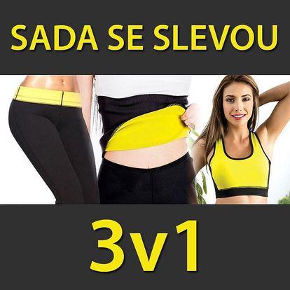 TIP! SADA 3v1 - Legíny, pás, podprsenka na hubnutí Velikost: Velikost: XXL