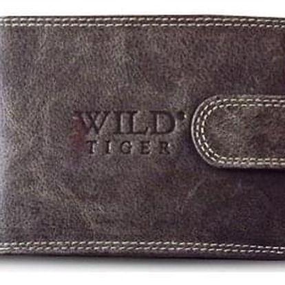 AKCE! Elegantní pánská peněženka WILD Barva: Tmavě hnědá