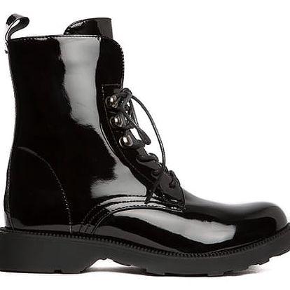Dámské černé kotníkové boty Litzy 104