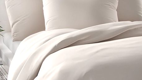 Kvalitex Saténové povlečení Luxury Collection bílá, 240 x 220 cm, 2 ks 70 x 90 cm