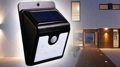 TIP! Solární světlo se senzorem pohybu - osvětlení pro váš domov Varianta: 1 kus