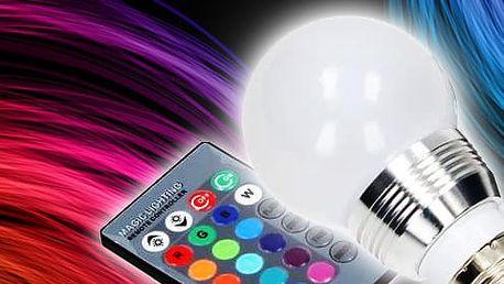 TIP! Barevná LED žárovka s dálkovým ovladačem
