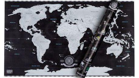 Stírací mapa světa (black edition)