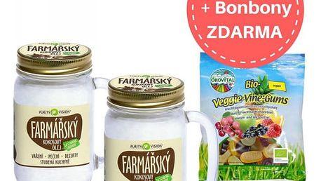 PURITY VISION Kokosový olej farmářský 2 ks + Ökovital bonbony ZDARMA