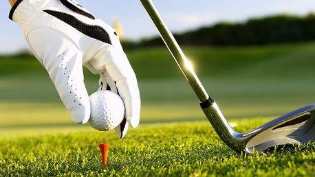 Začněte s golfem! Hodinová lekce golfu s profi trenérem