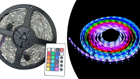 AKCE! Barevný LED pásek - oživte tvůj byt či dům! Kusů: 1 kus
