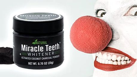 AKCE! Miracle Teeth - přírodní uhlí pro bělení zubů