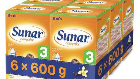 6x SUNAR Complex 3 VANILKA (600 g) – kojenecké mléko