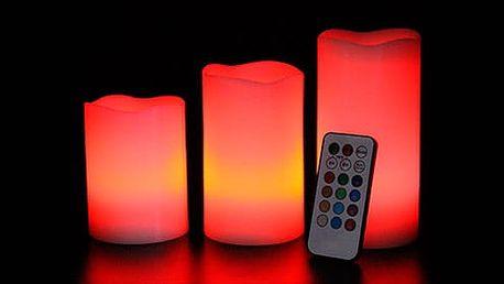AKCE! Luma Candles – 3x LED svíčka s ovladačem a volbou barev