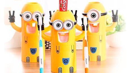 TIP! Mimoní držák na zubní kartáčky 3v1 Typ: Jednooký mimoň
