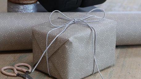 Chic Antique Balicí papír Nordique French Grey 10m, béžová barva, šedá barva, papír