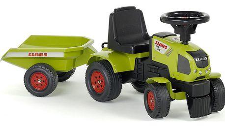 TIP! Odstrkovadlo - traktor Claas s volantem a valníkem