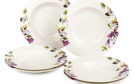 Verso 6dílná sada hlubokých talířů Clasico Floral, 21,5 cm