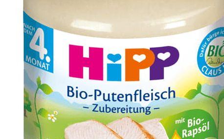 6x HIPP BIO krůtí maso (125 g) - masový příkrm