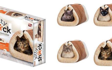 AKCE! Plyšový pelíšek a podložka pro kočku