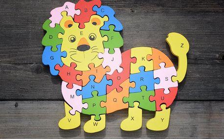 TIP! Dřevěné puzzle - vzdělávací Puzzle: Medvídek