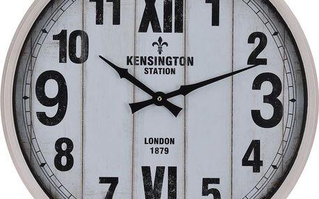 Home Styling Collection Nástěnné hodiny Kensington Station v kovovém rámu, Ø 51 cm