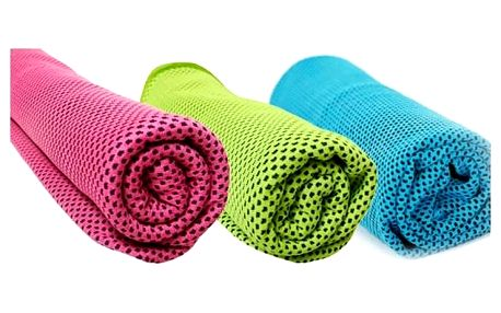 TIP! Chladící ručník - SET 3 ks (Doprava zdarma) Barva: Náhodný mix barev