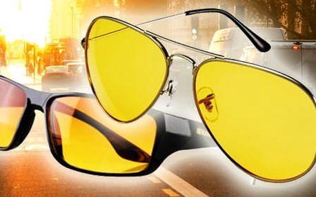 TIP! VISION Brýle pro řidiče (2 varianty) Typ: Pilotky (žluté)