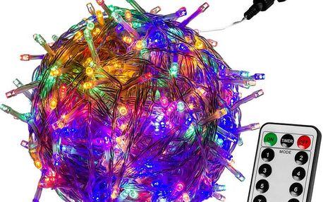 VOLTRONIC® 59731 Vánoční LED osvětlení 20 m - barevná 200 LED + ovladač