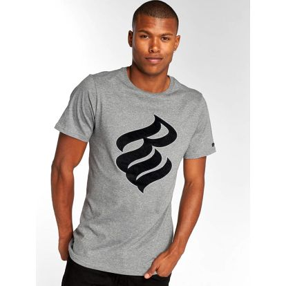 Rocawear / T-Shirt Velvet Logo in grey M