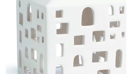 KÄHLER Lucerna domeček Urbania Light house 10 cm, krémová barva, keramika