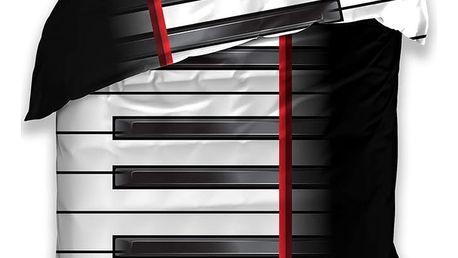 BedTex Bavlněné povlečení Piano, 140 x 200 cm, 70 x 90 cm