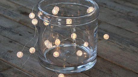 Chic Antique LED světelný řetěz Frozen Drops 220 cm, čirá barva, plast