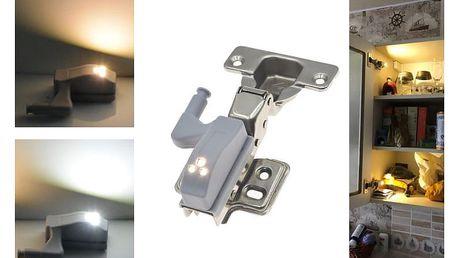 LED osvětlení na panty skříněk - ideální do kuchyní a šatních skříní - sada 4 kusů