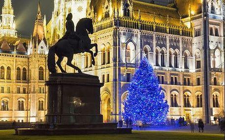 Vánoční Budapešť s návštěvou termálních lázní. 2 denní zájezd s ubytováním v 3* hotelu