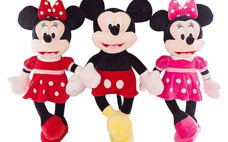Minnie a Mickey Mouse – plyšové postavičky