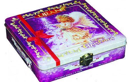 Vánoční kolekce černých čajů Anděl