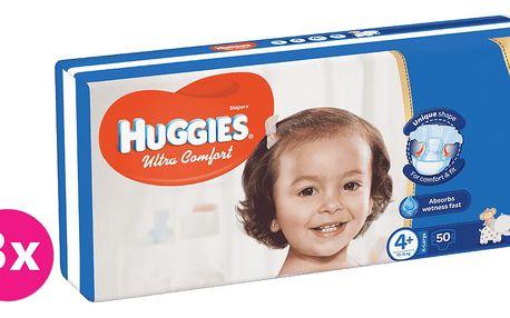 3x HUGGIES® Ultra Comfort 4+ (10-16 kg) 50 ks – jednorázové pleny
