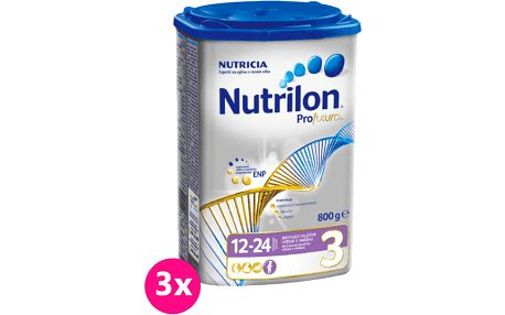 3x NUTRILON 3 ProFutura (800g) - kojenecké mléko
