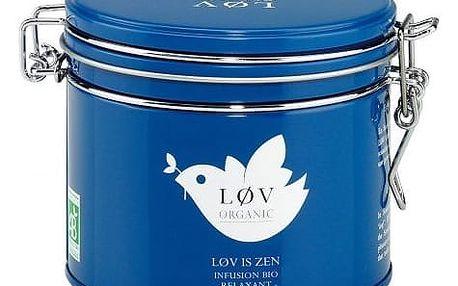 Løv Organic Rooibos čaj Løv Is Zen - 100 g, modrá barva, kov