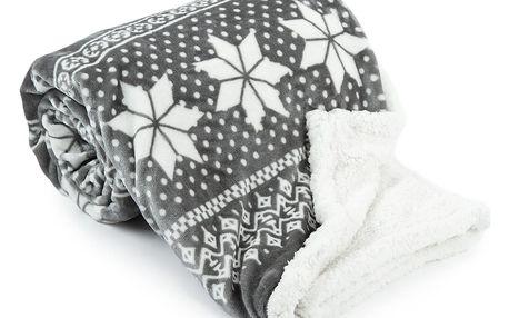 Jahu Beránková deka Winter šedá, 150 x 200 cm