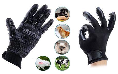 Vyčesávací rukavice , odstraní všechny druhy srsti
