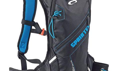Spokey SPRINTER Cyklistický a běžecký batoh 5l modro/černý, voděodolný